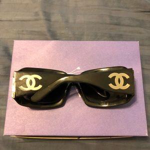 Chanel Sunglasses with silver CC Logo